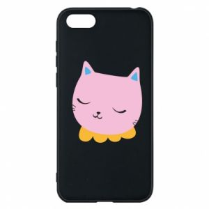 Phone case for Huawei Y5 2018 Pink cat - PrintSalon
