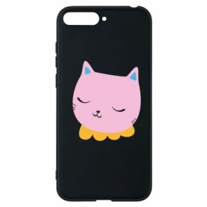 Phone case for Huawei Y6 2018 Pink cat - PrintSalon