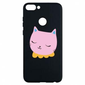 Phone case for Huawei P Smart Pink cat - PrintSalon
