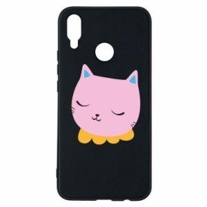 Phone case for Huawei P Smart Plus Pink cat - PrintSalon