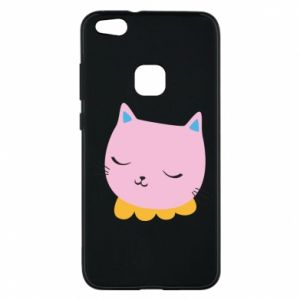 Phone case for Huawei P10 Lite Pink cat - PrintSalon