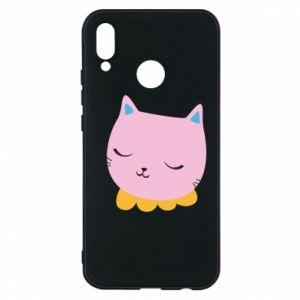 Phone case for Huawei P20 Lite Pink cat - PrintSalon
