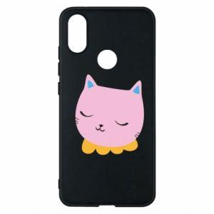 Phone case for Xiaomi Mi A2 Pink cat - PrintSalon