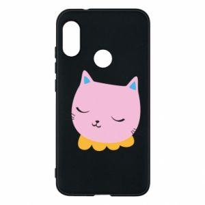Phone case for Mi A2 Lite Pink cat - PrintSalon