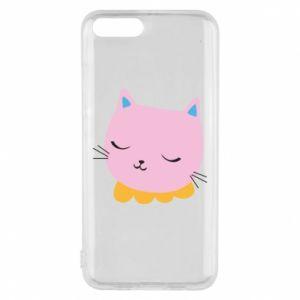 Phone case for Xiaomi Mi6 Pink cat - PrintSalon