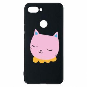 Phone case for Xiaomi Mi8 Lite Pink cat - PrintSalon