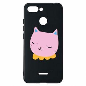 Phone case for Xiaomi Redmi 6 Pink cat - PrintSalon