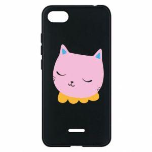 Phone case for Xiaomi Redmi 6A Pink cat - PrintSalon