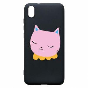 Phone case for Xiaomi Redmi 7A Pink cat - PrintSalon