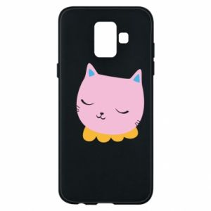 Phone case for Samsung A6 2018 Pink cat - PrintSalon