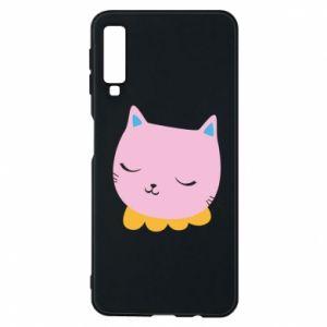 Phone case for Samsung A7 2018 Pink cat - PrintSalon