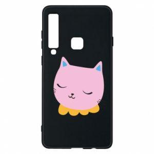 Phone case for Samsung A9 2018 Pink cat - PrintSalon