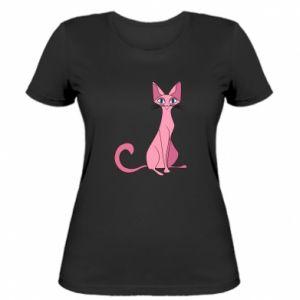 Koszulka damska Pink eared cat