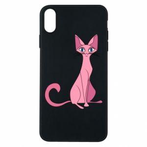 Etui na iPhone Xs Max Pink eared cat