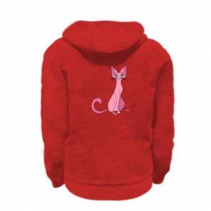 Bluza na zamek dziecięca Pink eared cat