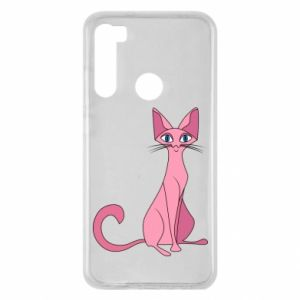 Etui na Xiaomi Redmi Note 8 Pink eared cat