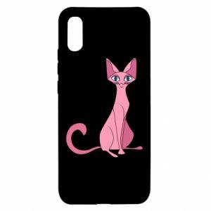 Etui na Xiaomi Redmi 9a Pink eared cat