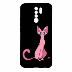 Etui na Xiaomi Redmi 9 Pink eared cat