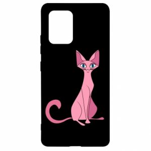 Etui na Samsung S10 Lite Pink eared cat