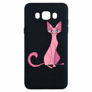 Etui na Samsung J7 2016 Pink eared cat