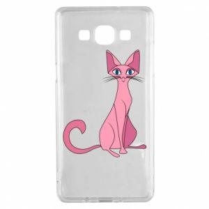 Etui na Samsung A5 2015 Pink eared cat