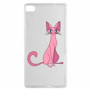 Etui na Huawei P8 Pink eared cat