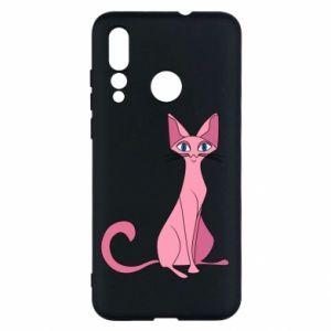 Etui na Huawei Nova 4 Pink eared cat