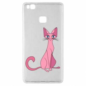 Etui na Huawei P9 Lite Pink eared cat