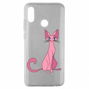 Etui na Huawei Honor 10 Lite Pink eared cat