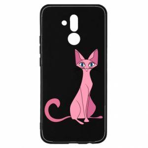 Etui na Huawei Mate 20 Lite Pink eared cat