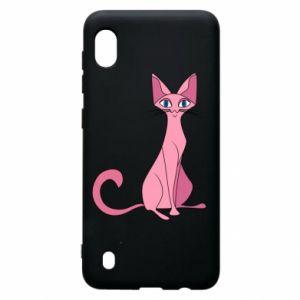 Etui na Samsung A10 Pink eared cat