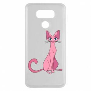 Etui na LG G6 Pink eared cat