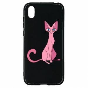 Etui na Huawei Y5 2019 Pink eared cat