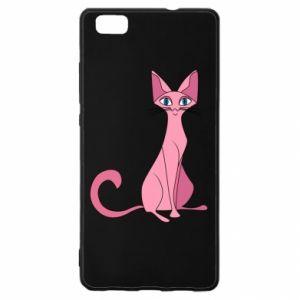 Etui na Huawei P 8 Lite Pink eared cat