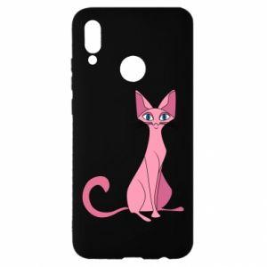 Etui na Huawei P Smart 2019 Pink eared cat