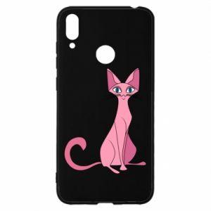 Etui na Huawei Y7 2019 Pink eared cat