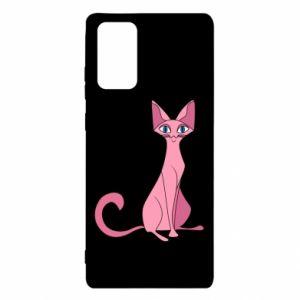 Etui na Samsung Note 20 Pink eared cat