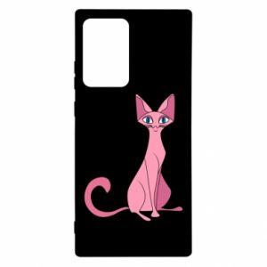 Etui na Samsung Note 20 Ultra Pink eared cat