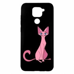 Etui na Xiaomi Redmi Note 9/Redmi 10X Pink eared cat