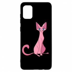 Etui na Samsung A31 Pink eared cat