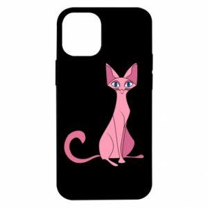 Etui na iPhone 12 Mini Pink eared cat