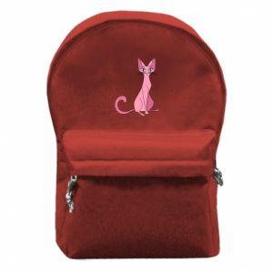 Plecak z przednią kieszenią Pink eared cat