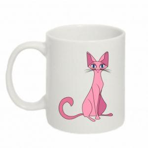 Mug 330ml Pink eared cat