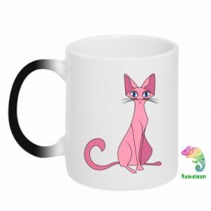 Kubek-kameleon Pink eared cat