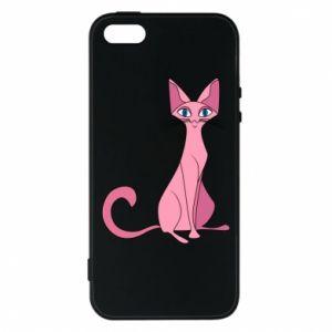 Etui na iPhone 5/5S/SE Pink eared cat