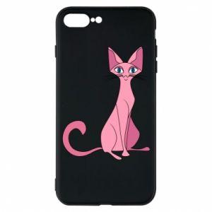 Etui do iPhone 7 Plus Pink eared cat