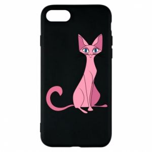 Etui na iPhone 8 Pink eared cat