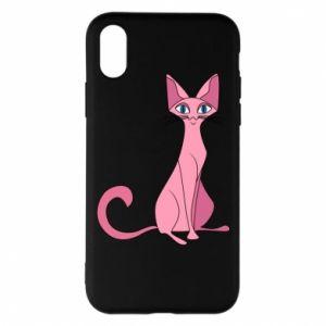 Etui na iPhone X/Xs Pink eared cat