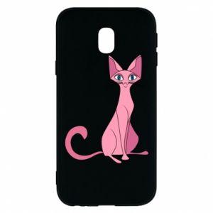 Etui na Samsung J3 2017 Pink eared cat