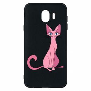 Etui na Samsung J4 Pink eared cat